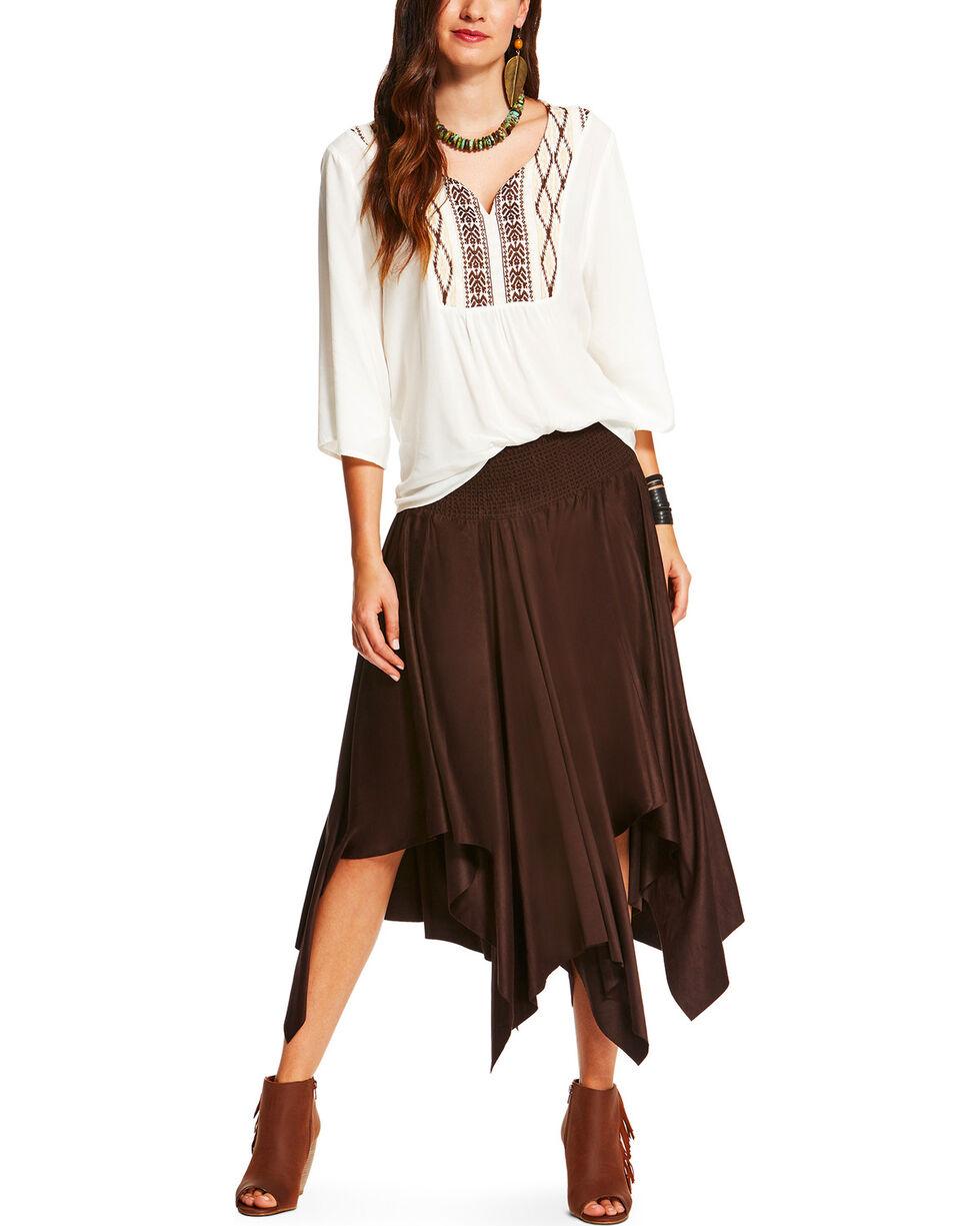 Ariat Women's Brown Afton Skirt , Brown, hi-res