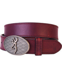 Browning Men's Oval Buckmark Belt, , hi-res