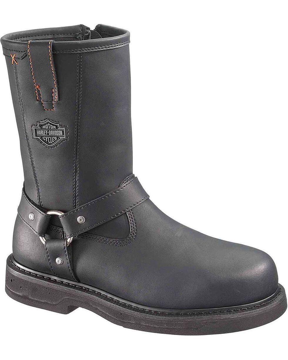 Harley-Davidson Men's Bill Steel Toe Motorcycle Boots, Black, hi-res