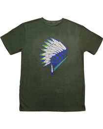 Hooey Boys' Headdress Graphic T-Shirt, Olive, hi-res