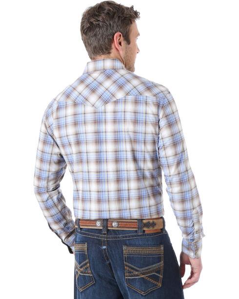 Wrangler 20X Plaid Competition Long Sleeve Shirt, Brn Plaid, hi-res