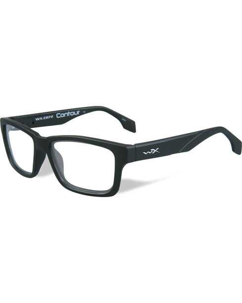 Wiley X Men's WX Contour Matte Black Glasses , Black, hi-res