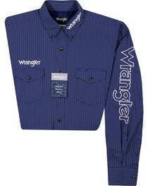 Wrangler Men's Logo Long Sleeve Shirt, , hi-res