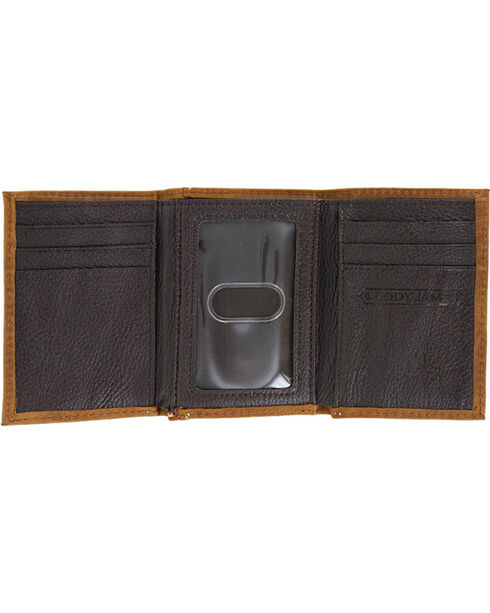 Cody James® Men's Hair-on Longhorn Trifold Wallet, Brown, hi-res