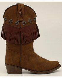 Blazin Roxx Youth Girls' Annabelle Fringe Boots - Snip Toe, , hi-res