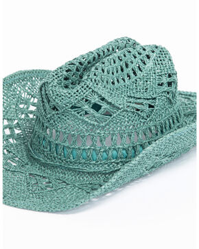 ále by Alessandra Women's Caballera Cowgirl Hat , Teal, hi-res