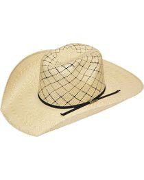 Twister 10X Shantung Twister Crown Straw Cowboy Hat, , hi-res