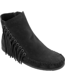 Minnetonka Women's Willow Boots, Black, hi-res