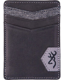 Browning Men's Black Leather Money Clip Wallet, , hi-res