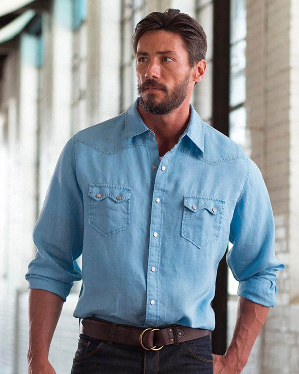 Ryan Michael Sawtooth Linen Shirt , White, hi-res