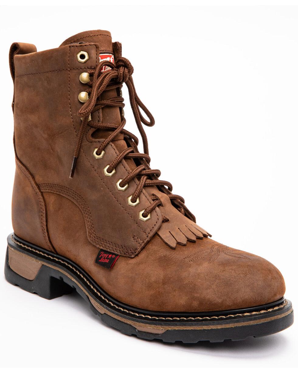 """Tony Lama Men's TLX 8"""" Work Western Boots, Tan, hi-res"""