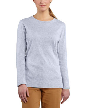 Carhartt Women's Calumet Lavender Long Sleeve Crewneck Shirt, Med Blue, hi-res