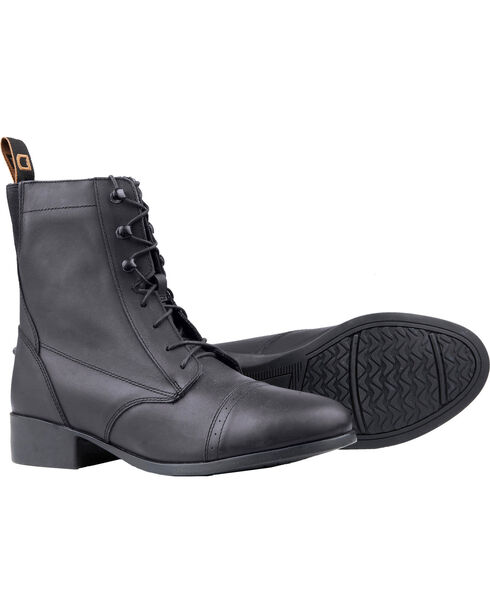 Dublin Kids' Elevation Laced Paddock Boots, Black, hi-res