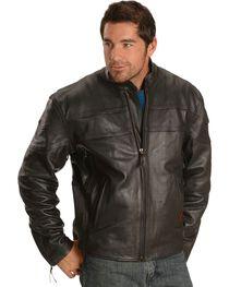 Milwaukee Men's Maverick Leather Motorcycle Jacket, , hi-res