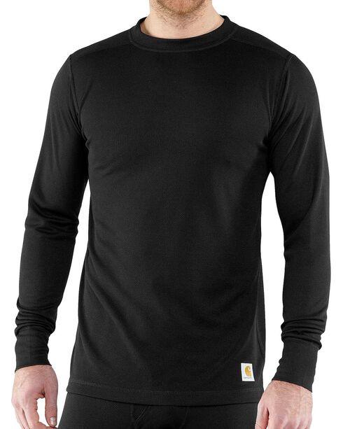 Carhartt Base Force Super-Cold Weather Long Sleeve Shirt, Black, hi-res