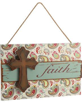 BB Ranch Faith Paisley Wall Sign, No Color, hi-res