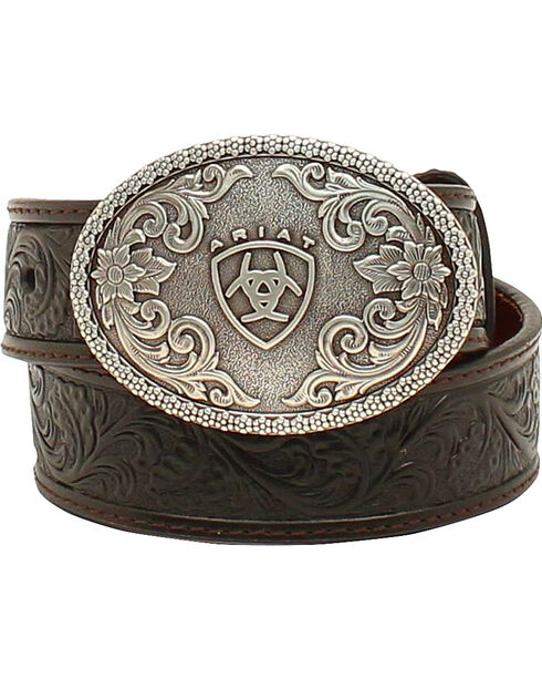 Ariat Boys Holden Tooled Belt, , hi-res