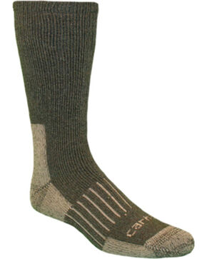 Carhartt Moss Full-Cushion Recycled Wool Crew Socks, Moss, hi-res