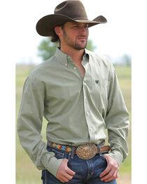 Cinch Men's Mini Check Button Down Long Sleeve Shirt, , hi-res