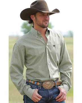 Cinch Men's Mini Check Button Down Long Sleeve Shirt, Multi, hi-res
