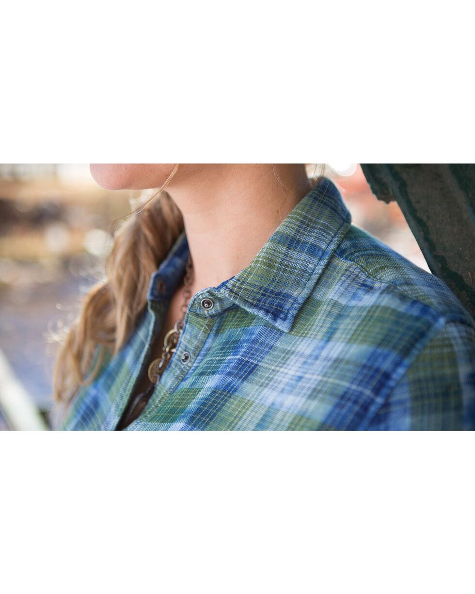 Ryan Michael Women's Indigo Sequoia Plaid Shirt , Indigo, hi-res