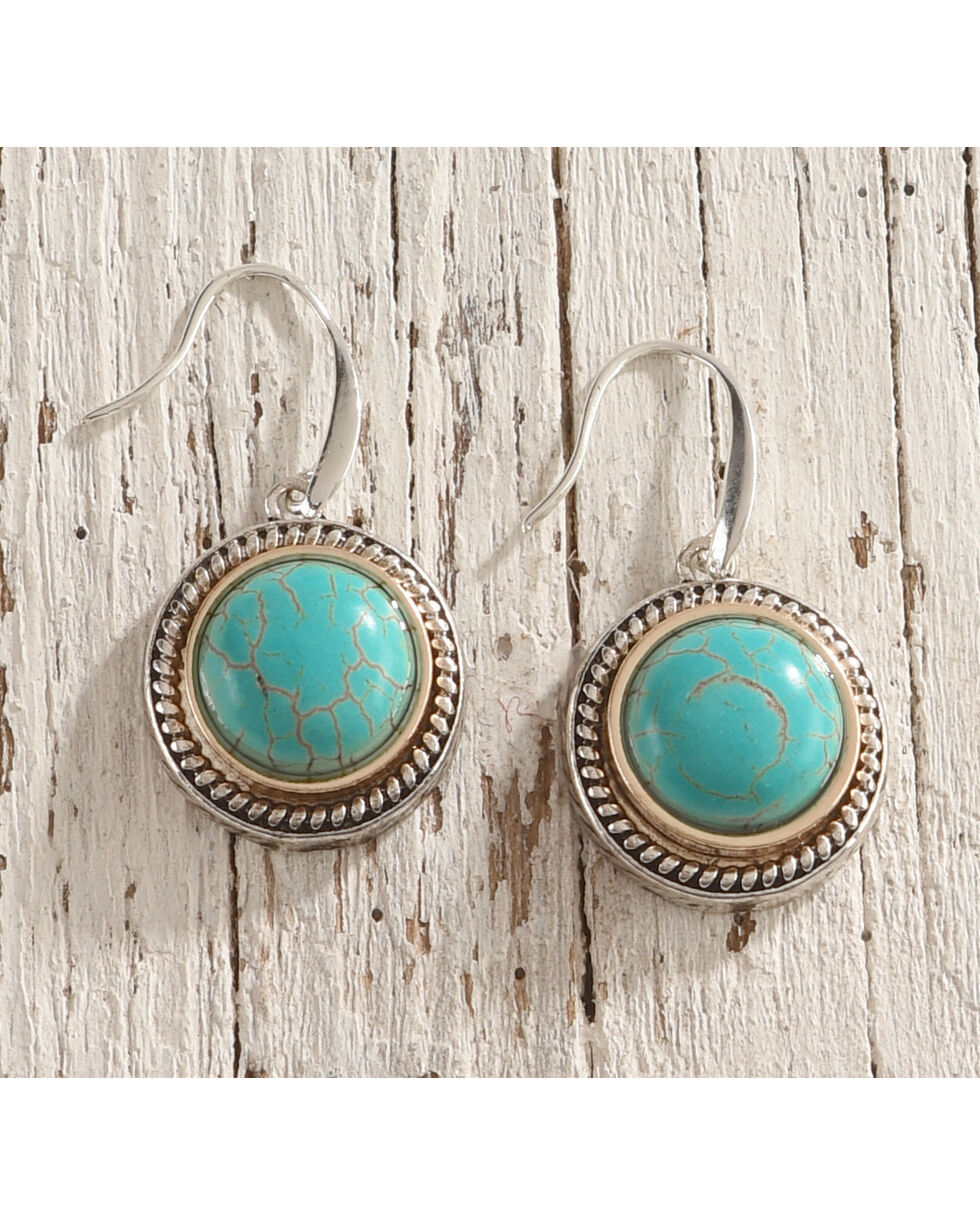 Shyanne Women's Turquoise Gemstone Earrings, Silver, hi-res