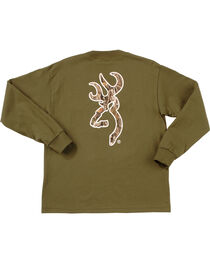 Browning Youth Boys' Mo Country Buckmark Long Sleeve T-Shir, , hi-res