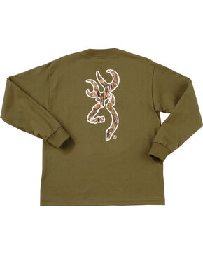 Browning Youth Boys' Mo Country Buckmark Long Sleeve T-Shir, Loden, hi-res