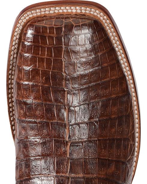 El Dorado Men's Caiman Belly Brass Stockman Boots - Square Toe, Bronze, hi-res