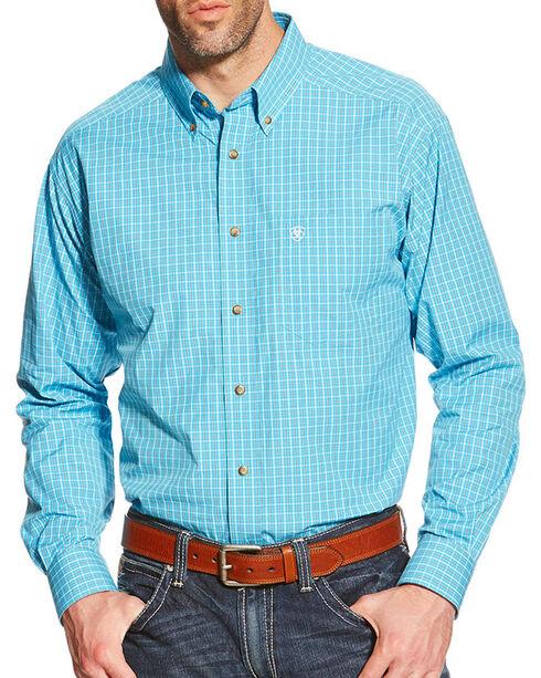 Ariat Men's Olten Long Sleeve Performance Shirt, Blue, hi-res