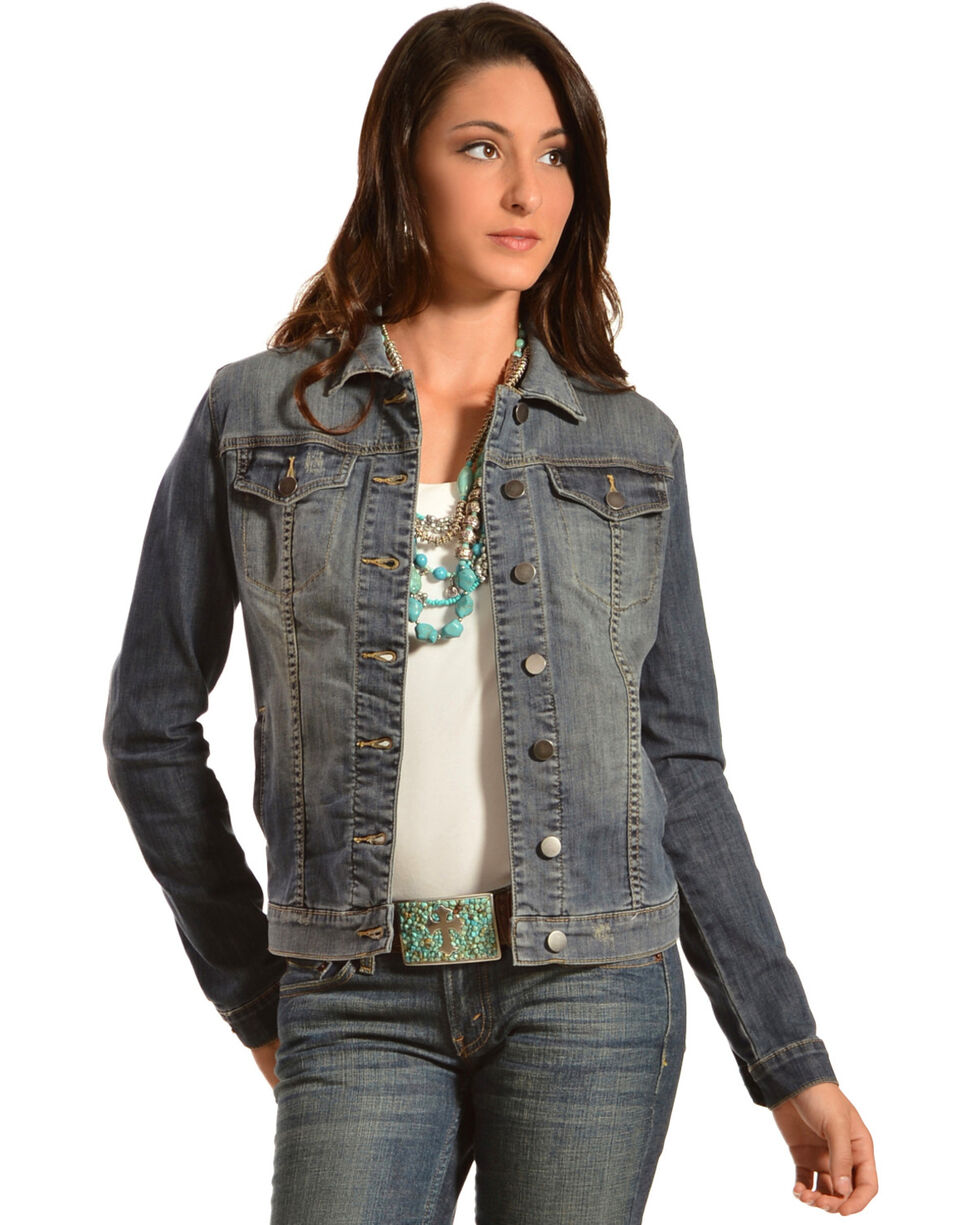 Kut from the Kloth Women's Cropped Denim Jacket, Denim, hi-res