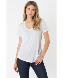 Z Supply Women's White Micro Modal Pocket Tee, , hi-res