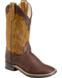 Jama Youth's Ultra-Flex Square Toe Western Boots, , hi-res