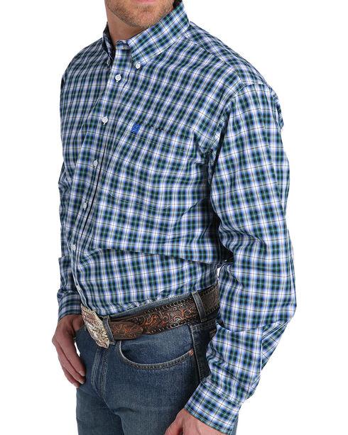 Cinch Men's Multi Plaid Plain Weave Long Sleeve Button Down Shirt - Big, Multi, hi-res
