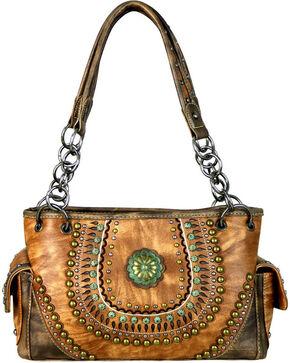 Montana West Women's Brown Concealed Carry Satchel , Brown, hi-res