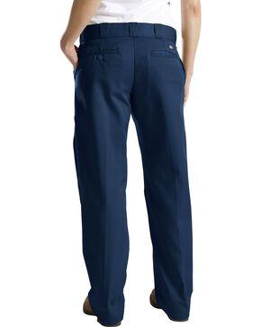 Dickies Women's Classic Straight Leg Twill Pants, Navy, hi-res