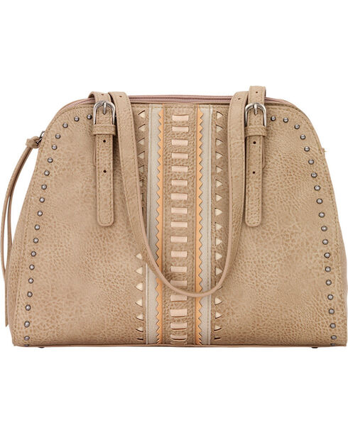 Bandana Women's El Dorado Multi-Compartment Satchel Tote , Beige/khaki, hi-res