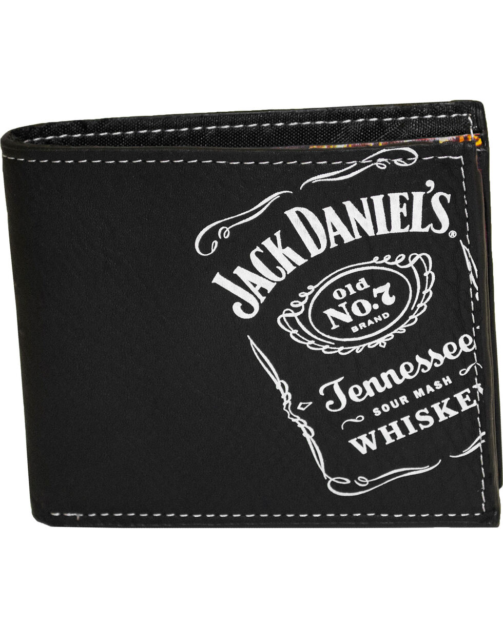 Jack Daniel's Men's Black Whisky Billfold Wallet , Black, hi-res