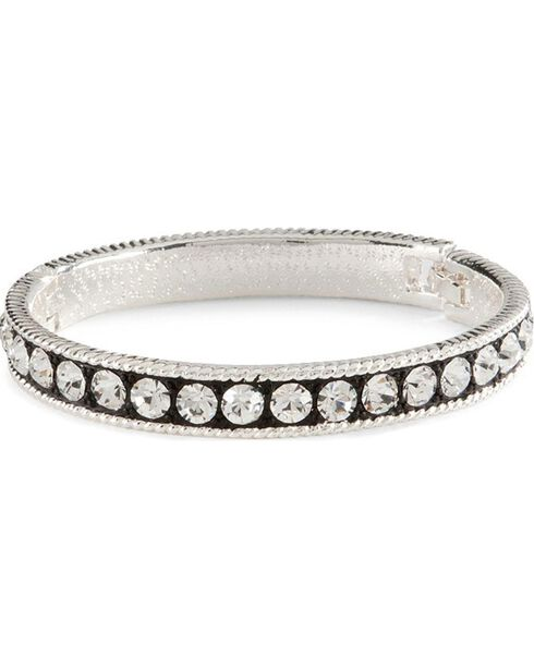 Montana Silversmiths Crystal Shine Bangle Bracelet, Silver, hi-res