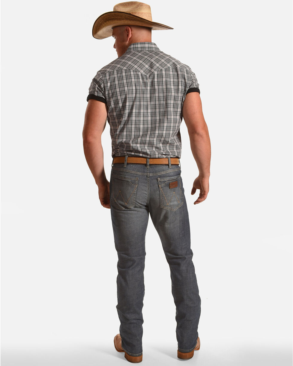 Wrangler Men's Slim Fit Straight Leg Jeans, Blue, hi-res