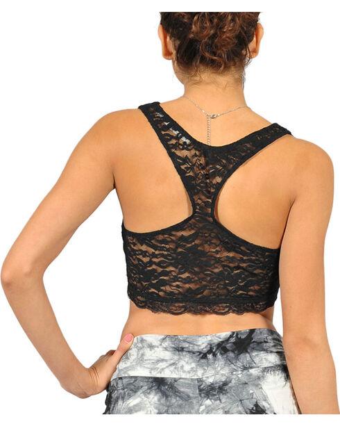 HYFVE Women's Racerback Lace Bralette, Black, hi-res