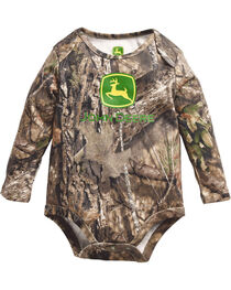 John Deere Infant Boy's Mossy Oak Long Sleeve Onesie, , hi-res