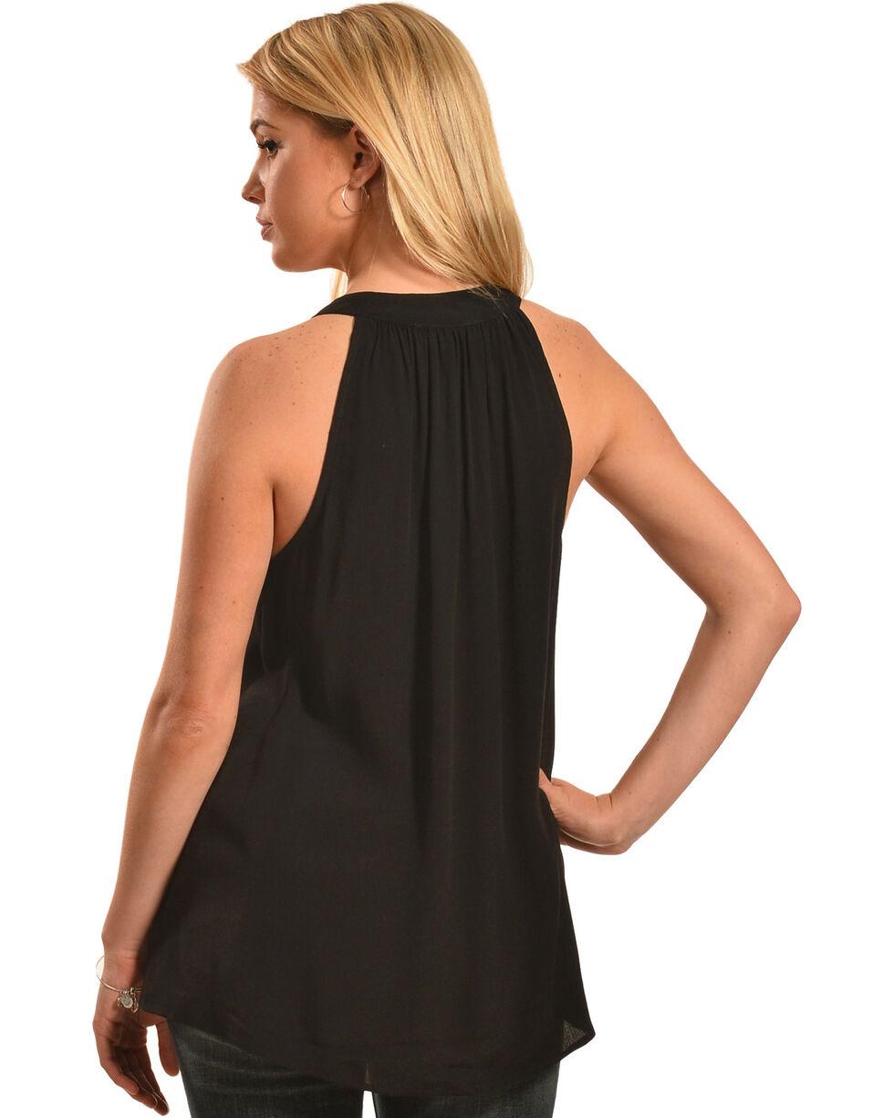 Miss Me Women's Black Sequin Halter Top , , hi-res