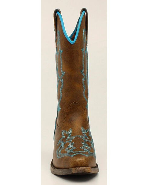 Blazin Roxx Girls' Caroline Cowgirl Boots - Snip Toe, Brown, hi-res