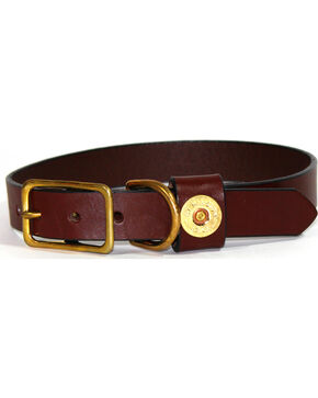 SouthLife Supply Gunner Leather Dog Collar, Chocolate, hi-res
