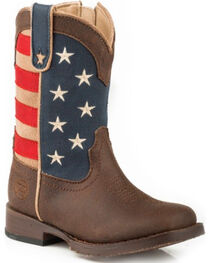 Roper Toddler Boys' American Patriot Boots - Square Toe , , hi-res