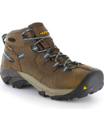 Keen Footwear Men's Detroit Mid Lace-Up Steel Toe Work Boots, , hi-res