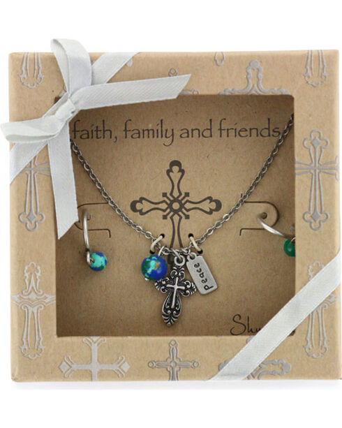Shyanne® Women's Faith Family & Friends Jewelry, Silver, hi-res