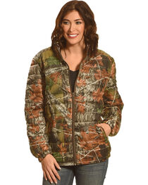 Trail Crest Women's Ultra Thurmic Silk Padded Quilted Jacket, Camouflage, hi-res