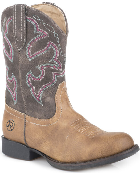 Roper Girls' Classic Western Cowgirl Boots - Round Toe, , hi-res